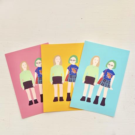 """Ghost world"" 3 postcards set"