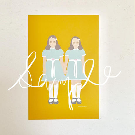 """The Grady twins from """"The Shining"""" post card"""