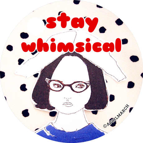 """""""stay whimsical"""" Enid from Ghost world sticker"""