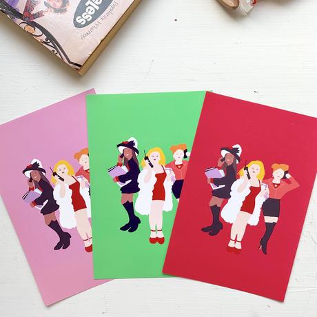 """""""Clueless"""" 3 postcards set"""