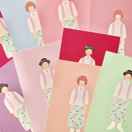 """Andie from  """"Pretty  In Pink"""" postcard"""