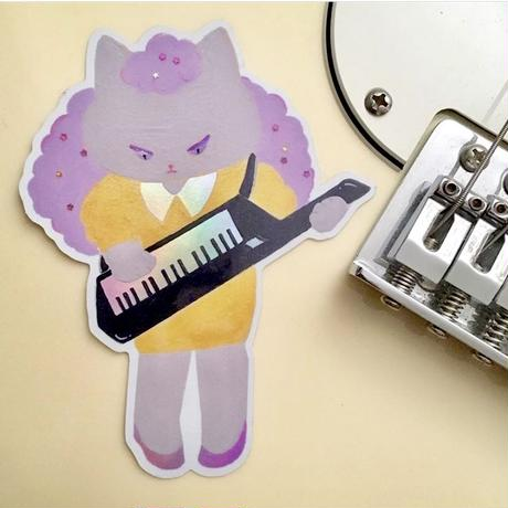 80s Girl Band HOLOGRAPHIC sticker (keyboard)