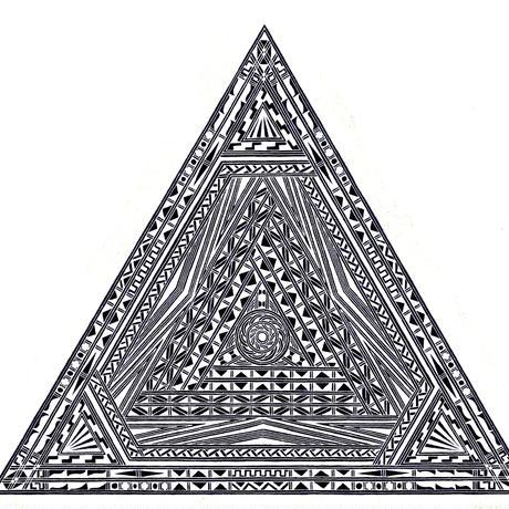 受注生産/ロングTシャツ/ピラミッド