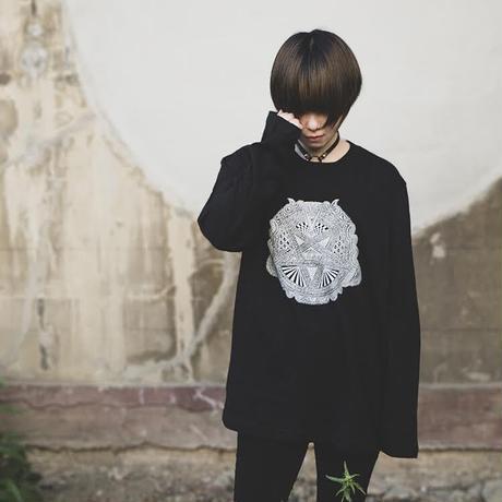 【受注生産】Apsu Shusei × 瀕死衣料CULTNIA  Baphomet Polarity reversal Long sleeve