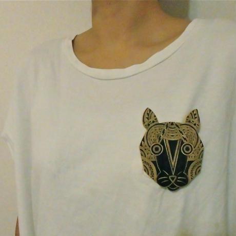 【手描きブローチ】猫