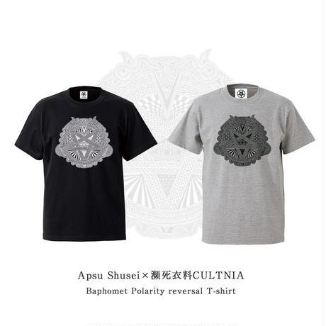 【受注生産】Apsu Shusei × CULTNIA  Baphomet Polarity reversal T-shirt