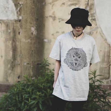 【受注生産】限定カラー Apsu Shusei × 瀕死衣料CULTNIA  Baphomet Polarity reversal T-shirt