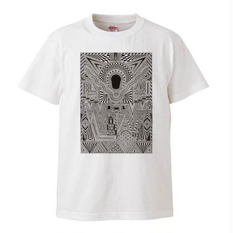 受注生産【新作】 無貌の神コラボレーションTシャツ/ホワイト×ブラック