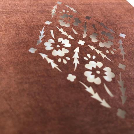 【型染めあそび #6】花繋ぎ更紗