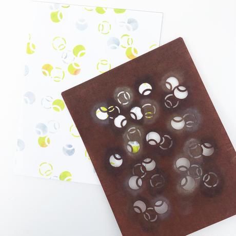 【2L版・型染めあそび#1】つぼつぼ紋