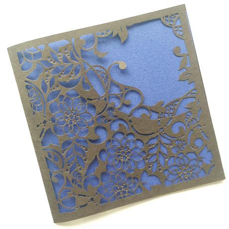 切り絵カード《朔月唐草》