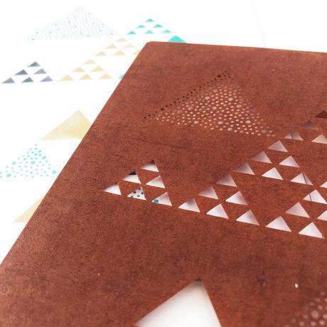 【2L版・型染めあそび#11】大小ウロコ紋