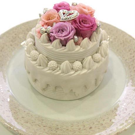 母の日にオススメ★プリザーブドフラワーのデコレーションケーキ・ピーチ