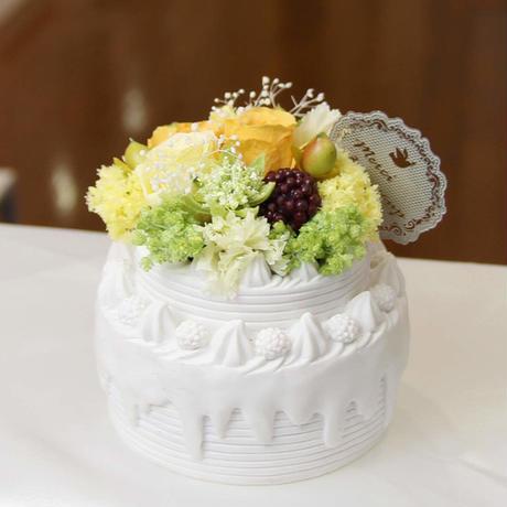母の日にオススメ★プリザーブドフラワーのデコレーションケーキ・メロン。