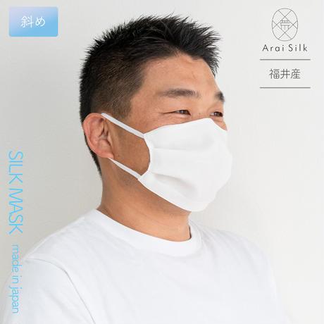 Lサイズ【軽くて薄い、シルクマスク】 さらっと快適 洗えるシルクマスク〈シルクシフォン・不織布高密度フィルター・3層・シルク100%・日本製・荒井シルク〉