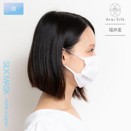 Mサイズ【軽くて薄い、シルクマスク】 さらっと快適 洗えるシルクマスク〈シルクシフォン・不織布高密度フィルター・3層・シルク100%・日本製・荒井シルク〉