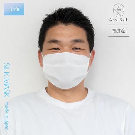 Lサイズ【軽くて薄い、シルクマスク】 さらっと快適 洗えるシルクマスク(Lサイズ)〈シルクシフォン・高密度フィルター・3層・シルク100%・日本製・荒井シルク〉