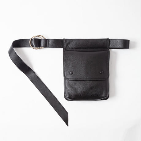 Leather Waist Flap Bag