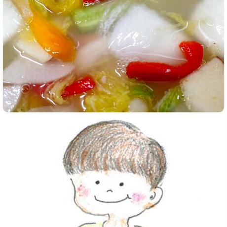 無化調水キムチスープマニマニ