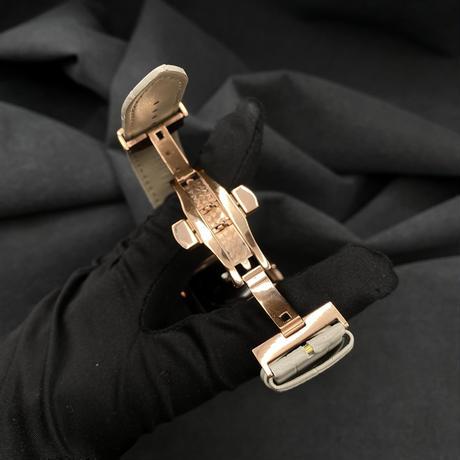 40mm  44mm用 AA2モデルローズベゼル ライトグレークロコダイルベルトセット