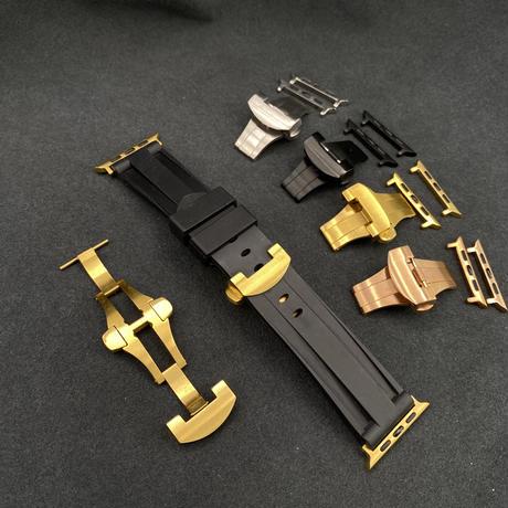 40mm44mm42mm44mm AA1モデルゴールドベゼル ソリッドラバーベルトハイエンドバックル付き