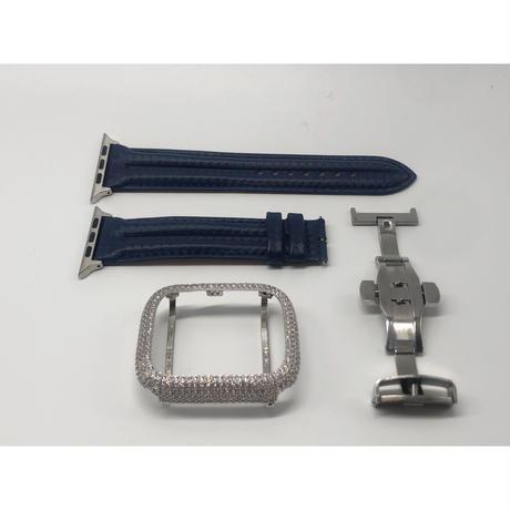 AA2シルバーカバー ブルーカーボンベルトセット