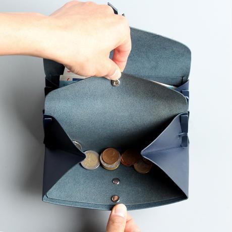 ori long wallet mag [3pocket] #navy /  折りロングウォレット マグ#ネイビー [3ポケットver]