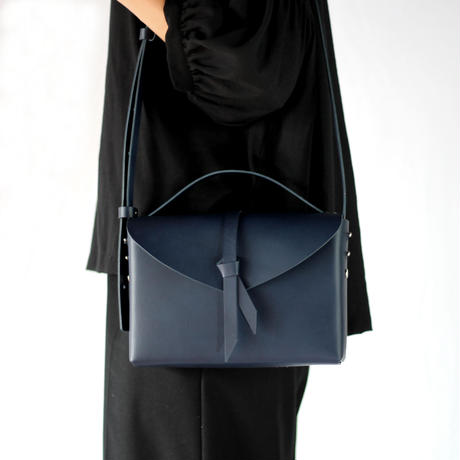 [style&things]  ori box bag slim #navy