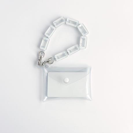 チェーン・マルチケース クリア #白 / chain・multi case  transparent #white