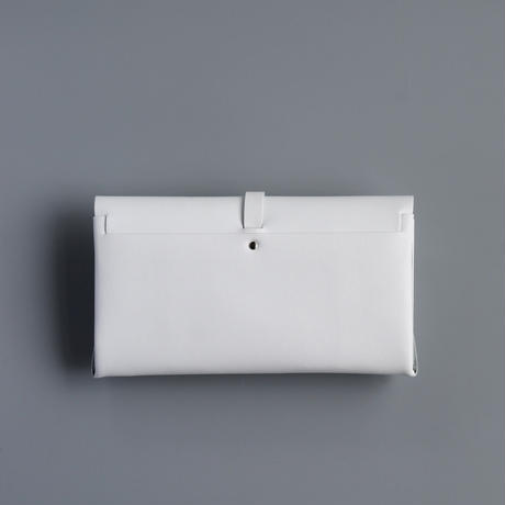 ori long wallet mag [3pocket] #white /     折りロングウォレット マグ#白 [3ポケットver]