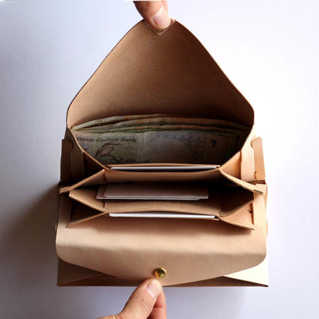 [style&things]  basic long wallet #beige