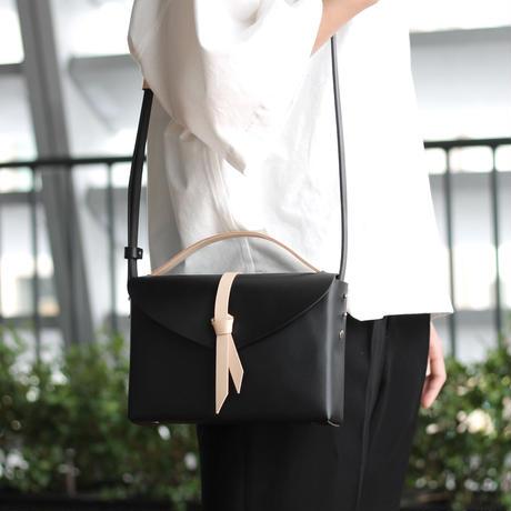 [style&things] ori box bag slim #black x beige