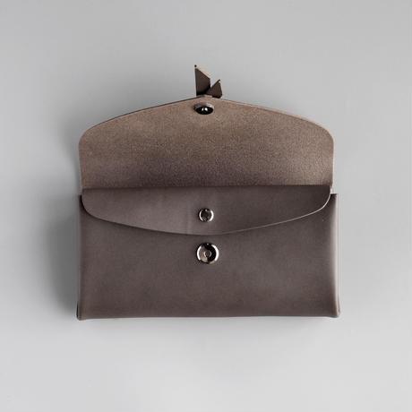 ori long wallet mag [3pocket] #D.gray /    折りロングウォレット マグ#ダークグレー [3ポケットver]