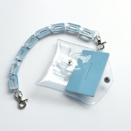 チェーン・マルチケース クリア #ライトブルー / chain・multi case  transparent light blue