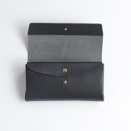 suare long wallet #black 長財布 /スアレロングウォレット 3ポケット #黒