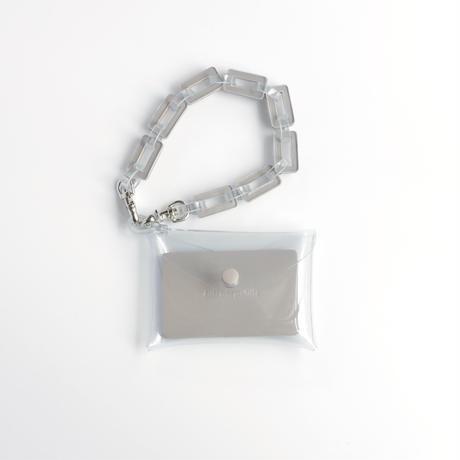 チェーン・マルチケース クリア #グレージュ/ chain・multi case  transparent greige