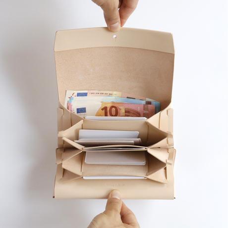 suare long wallet #beige  / 長財布スアレロングウォレット 3ポケット #ベージュ