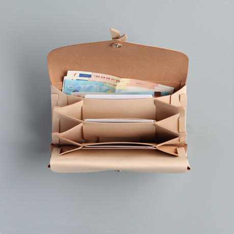 ori long wallet mag [3pocket] #beige  /  折りロングウォレット マグ#ベージュ [3ポケットver]