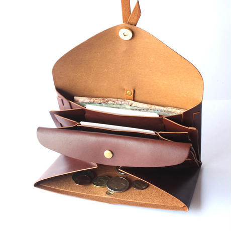 [style&things]  ori long wallet  mag  #brown