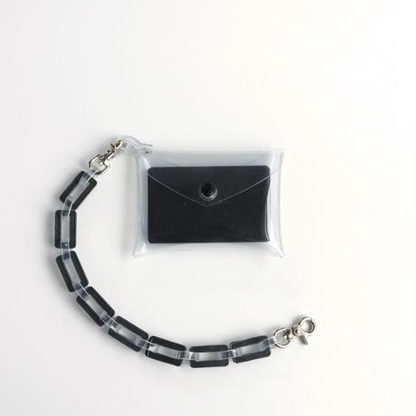 チェーン・マルチケース クリア #黒 / chain・multi case  transparent black