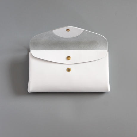 [style&things]  basic long wallet #white