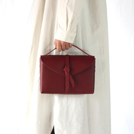 [style&things]  ori box bag slim #wine