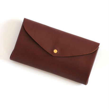 [style&things]  basic long wallet #brown