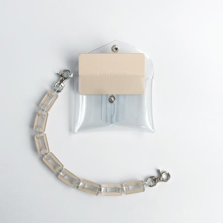 チェーン・マルチケース クリア #ベージュ / chain・multi case  transparent beige
