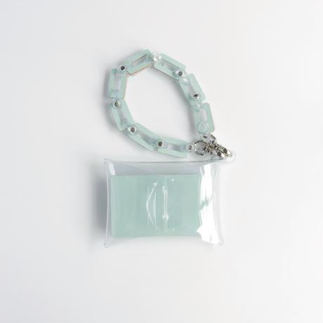 チェーン・マルチケース クリア #ミント / chain・multi case  transparent #mint