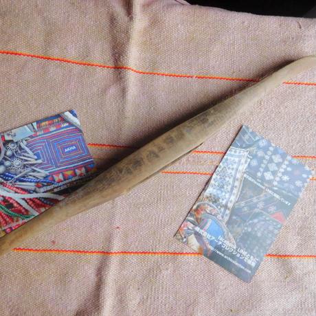 織り 織機 シャトル 杼 使用可 ストアーズno.29  80 g  全長43巾3.8高2.7 内径長9.5巾3.2深2cm shuttle 木製 オールド