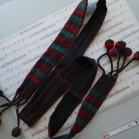 ナガ族のベルト布 no.7S 155x4.5cm 綿 Naga tribe インド ミャンマー北部 India Nagaland ナガランド