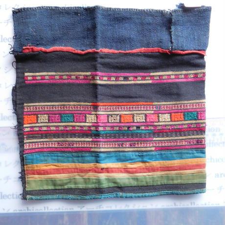 STORES アカ族 はぎれソックス脚絆NO. 2 29X25cm タイ ミャンマー北部山地岳 民族衣装 本物 手仕事 刺繍