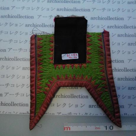 モン族の胸襟飾りWING型 no.14  22x19 cm  Hmong embroidery needlework はぎれ ラオス タイ