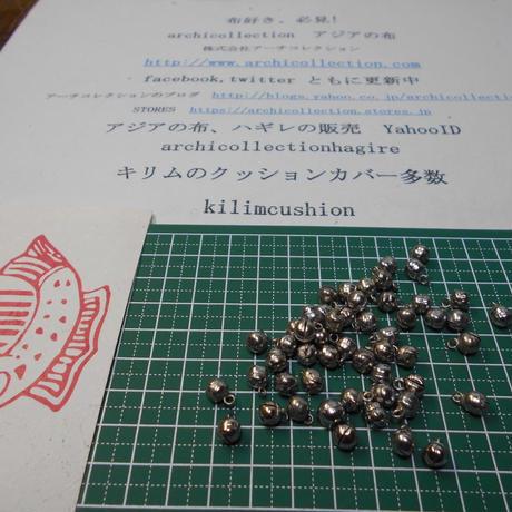 山岳民族 手芸用 鳴らない鈴no.21 6 mm 15粒 銀色金属ビーズ アーチコレクション archicollection